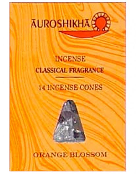 Auroshikha Räucherkegel Orange Blossom 20g