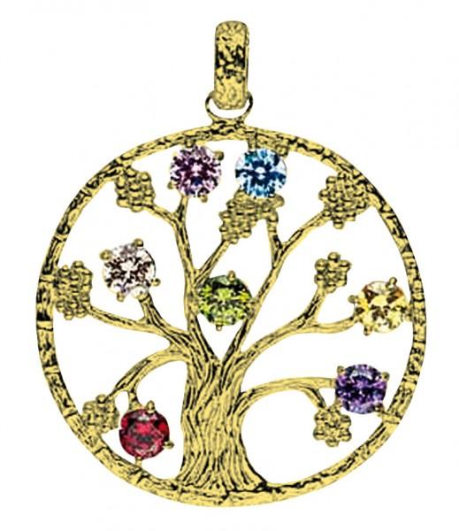 Anhänger Baum des Lebens Messing 4,8g 3cm
