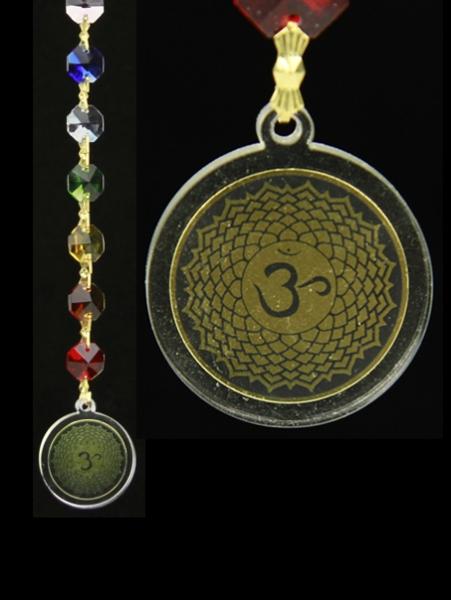 Feng Shui - Kronen Chakra Dekoration mit Om-Anhänger