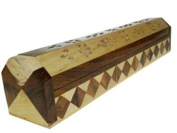 Räucherstäbchenhalter/Dose aus Holz 2 Farben