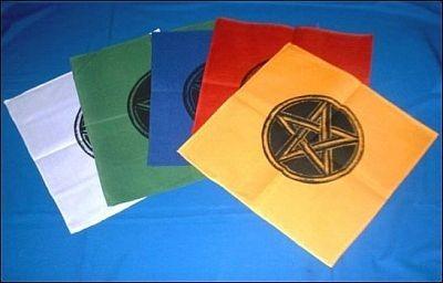 Altartücher mit Pentagramm violett 45x45cm 1 Tuch