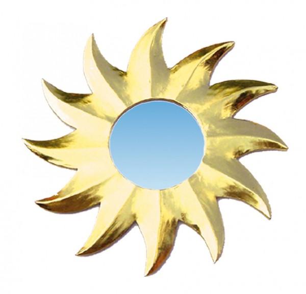 Spiegel Sonnenstern gold 8cm Holz
