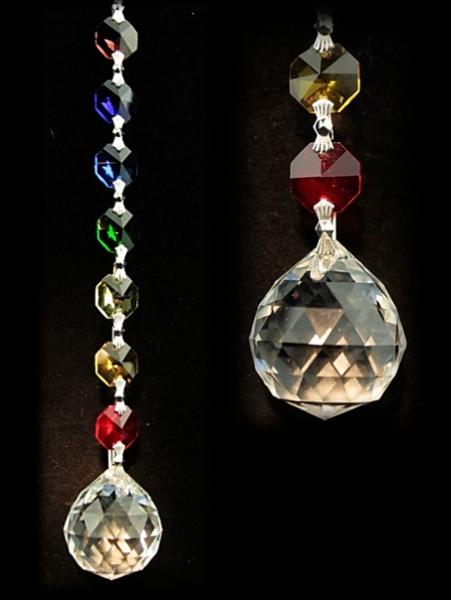 Oneness Feng-Shui Chakra Kristallkette mit Tropfen