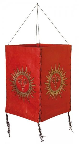 Lampion Sonne Papier rot 45cm