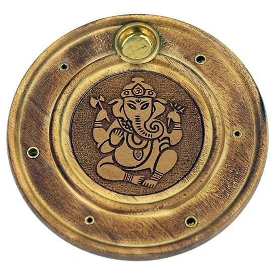 Räucherstäbchen-/Weihrauchkegelhalter Ganesha