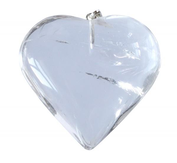 Herzanhänger aus Bergkristall ca.3,5x3,5cm
