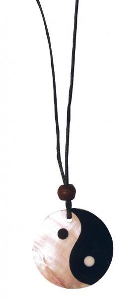 Muschelschmuck Yin Yang Perlmutt/Resin 3cm