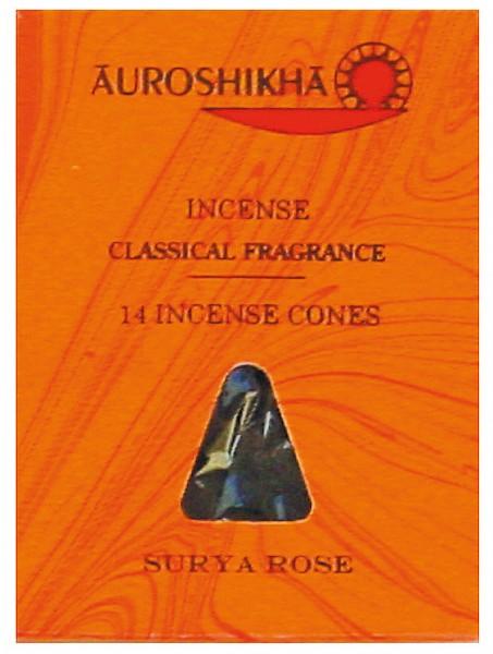 Auroshikha Räucherkegel Rose 20g