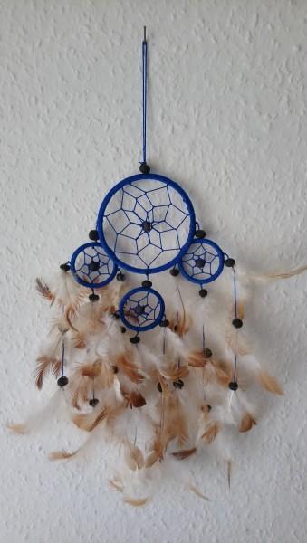 Dreamcatcher klein vierfach Blau