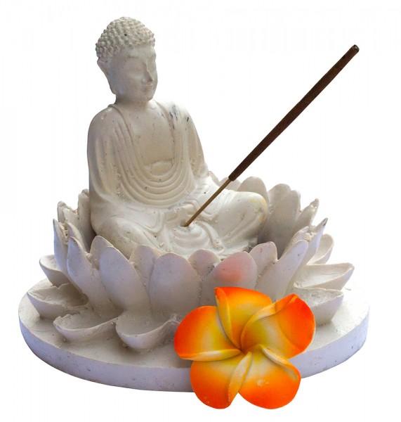 Teelichthalter Buddha Garden Resin 10x14cm