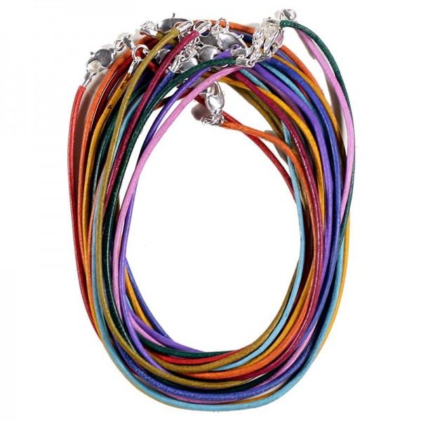 Halskette Leder mit Karabinerverschluss in 10 versch. Farbvarianten 1 Lederband