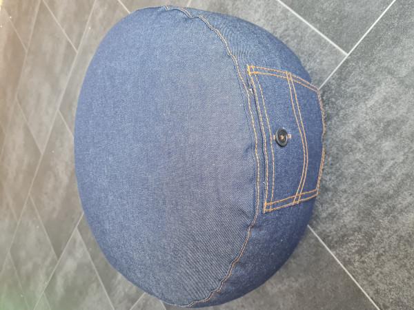Meditationskissen Jeans dunkel mit Tasche