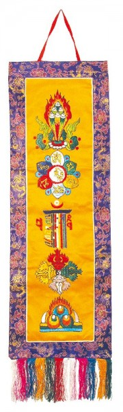 Tibetischer Wandbehang All In One Brokat 25x75cm